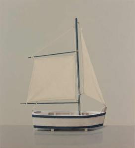 Comhghall Casey Toy Sailboat Oil on Canvas 56x51cm